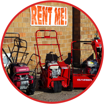 Lawn Care Machines for Rental